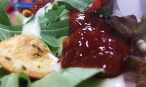 Another close-up of the Salad Cream and Branston relish from another angle